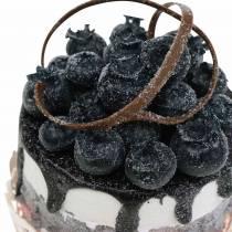 Decorative tartlets blueberry food replica 7cm