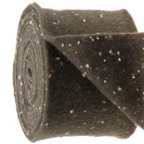Pot hinge felt tape brown with dots 15cm x 5m