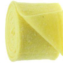 Pot hinge felt tape yellow with dots 15cm x 5m