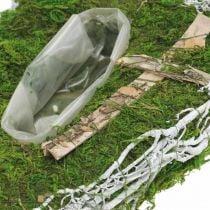 Planter drop moss, vine commemorative floristry 40x20cm
