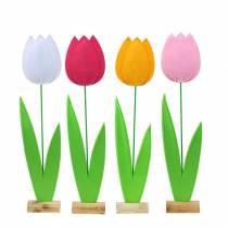 Felt flower tulip H68cm Different colors