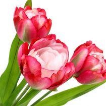 Artificial tulip pink 60cm 3pcs