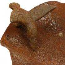 Decorative bird bath, stainless steel feeder, antique bird bath Ø28cm H74cm