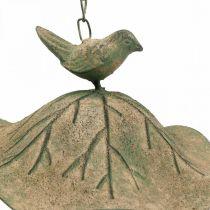 Bird bath hanging metal bird bath garden antique look H28cm
