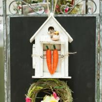Birdhouse to hang white H25.5cm