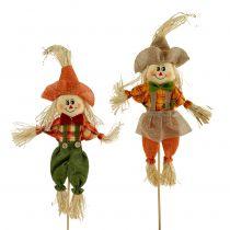 Decorative scarecrows on a stick 38cm 8pcs