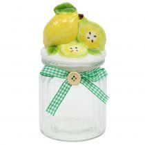 Storage jar with lid lemon 15.5cm