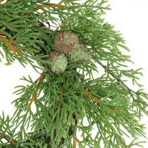 Artificial juniper wreath, juniper wreath, cones Ø25cm