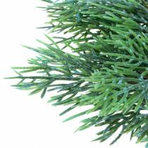 Decorative branch juniper with cones green, blue washed 25cm 2pcs