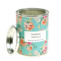 Vanilla scented candle in flower box Ø6.5cm