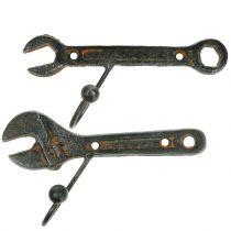 Wall hook tool dark brown 14cm 2pcs