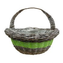 Wall basket 35x16cm H19cm green, brown