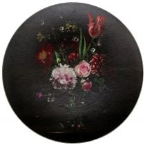 Wall plate with a floral pattern Ø33cm