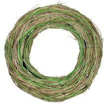 Bast wreath with willow nature / green Ø40cm
