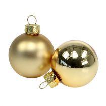 Christmas ball 4cm gold gloss / matt 28pcs