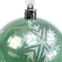 Christmas ball Ø8cm light green plastic 1p