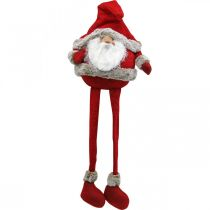Santa Claus edge stool decorative figure Christmas 28 × 22 × 88cm