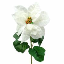 Poinsettia artificial flower white 67cm