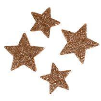 Christmas stars copper glitter stars sprinkle decoration 40pcs