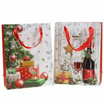 Christmas gift bag 8cm x 18cm H24cm set of 2