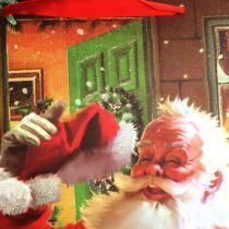 Christmas bag with Santa 32cm x26cm x10cm