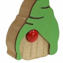 Gnome wood 6.5x9cm 10pcs assorted