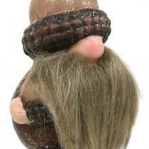 Gnome ceramic cones and acorns decorative plug 8 / 8.5cm 4pcs