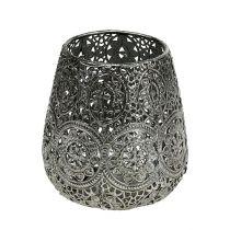 Lantern silver Ø12cm H13cm 1p