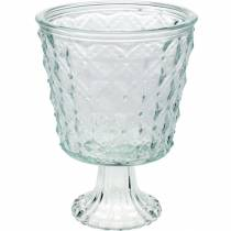 Lantern glass with base clear Ø13.5cm H18cm table decoration outdoor