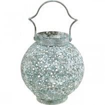Metal wind light, lantern, candle holder antique look Ø15cm H22cm