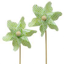 Windmill Mini Green-White Ø9cm 12pcs