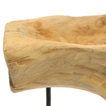 Root bowl on the stand natural H38cm