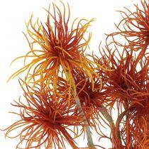 Xanthium artificial flower autumn decoration orange 6 flowers 80cm 3pcs