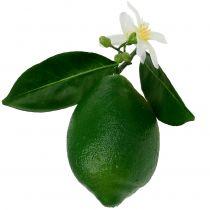 Lemons with blossom 9,5cm green 4pcs