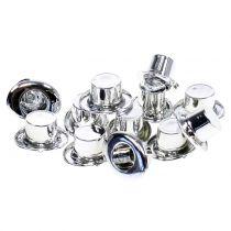 Cylinder mini silver 12pcs