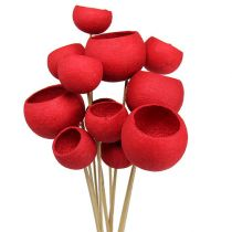 Bell Cup on a stick mix red 15pcs
