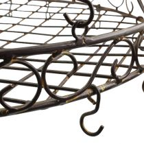 Tray with hooks for hanging brown, grate Ø45cm