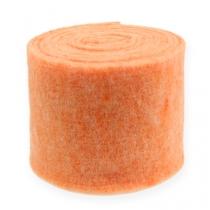 Felt ribbon orange 15cm 5m