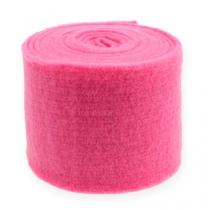 Felt ribbon pink 15cm 5m