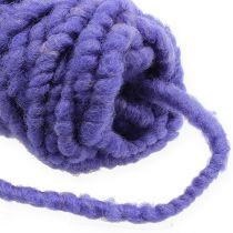 Felt cord fleece Mirabell 25m purple