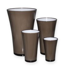 "Vase ""Fizzy"" platinum gray Ø13.5cm to approx. Ø28.5cm, 1pce"