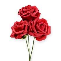 Foam-Rose Ø6cm red 27pcs