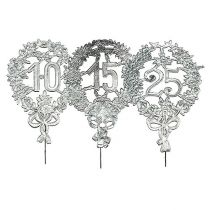 Anniversary numbers silver