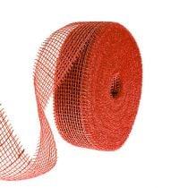 Jute ribbon red 5cm 40m