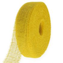 Jute ribbon yellow 5cm 40m