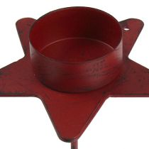 Tealight holder star to stick red