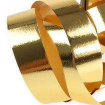 Gathering ribbon shiny 19mm 100m gold