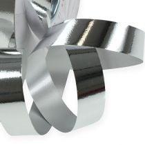 Gathering ribbon shiny 19mm 100m silver