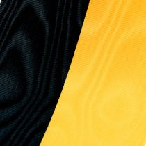 Wreath ribbons moiré yellow-black
