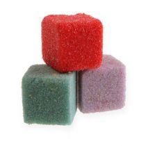 Wet floral foam mini-cube colored 300pcs